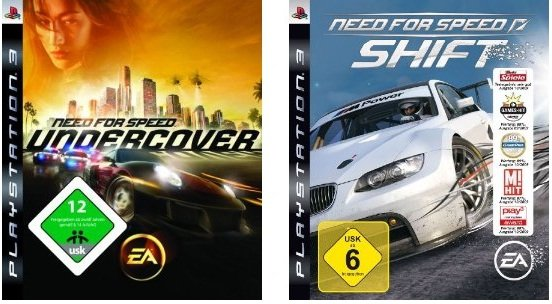 Reduziert: Need for Speed: Shift  & Need for Speed: Undercover für PS3,Xbox,Wii,PC ab 18€