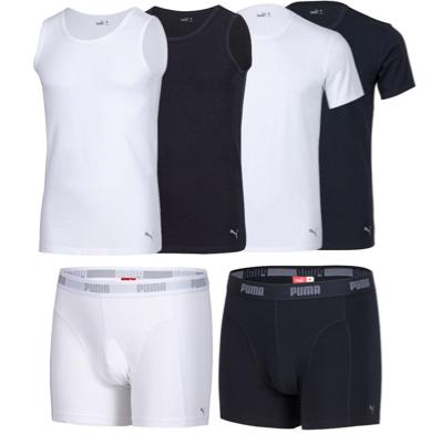 2er Pack PUMA T Shirts oder Boxershorts für 18,99€