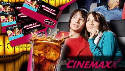 Kino Tickets Specialdeals: CinemaxX Kinoticket + Softdrink ab 2,50€ oder 10 x Kinoticket ab 54€