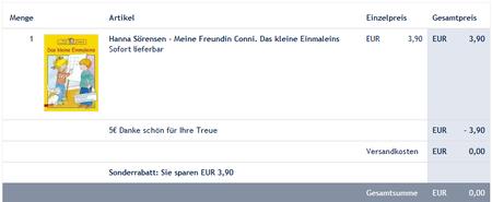 *HAMMER* 5€ Karstadt Gutschein ohne Mindest Bestellwert (GRATIS Bücher & Hörbücher!)
