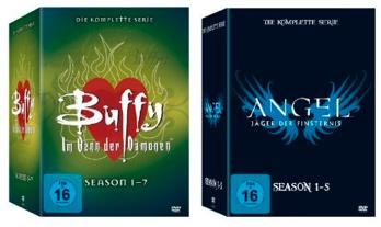 Angel – komplette Serie, Season 1 5 (30 Discs) für 46,99€ & Buffy – komplette Serie (39 Discs) nur 75€