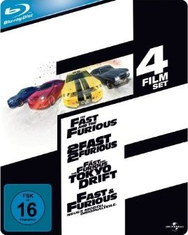 Fast and Furious 1 4 [Blu ray] Box nur 23€ inkl. Versand