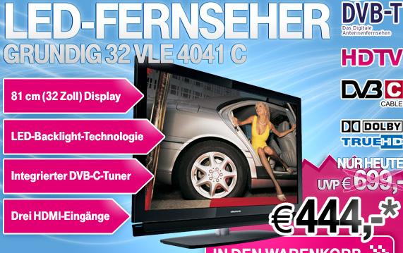 GRUNDIG 32? LED Full HD nur 424€ inkl. Versand (Vergleich 557€!)