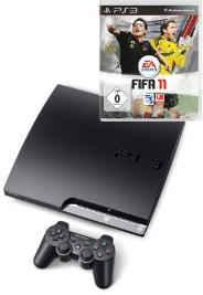 PS3 Schnäppchen: PS3 Slim 160GB + Fifa 11 für 324€ inkl. Versand