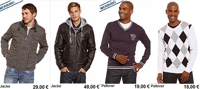 *Update* Leder Jacken ab 35€, Pullis 9€ durch 10% Gutschein + VersandkostenFREI