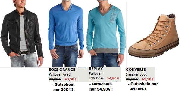 Shopping Knaller! (Boss Orange Pulli ab 30€, Replay Pulli ab 35…uvm!) durch 20€ Gutschein + Sale Aktion!
