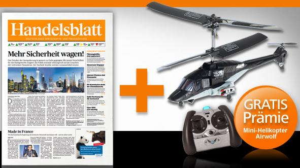 Mini Abo Tipp! 4 Wochen lang Handelsblatt +Mini Helikopter nur 28,60€ (endet Automatisch!)