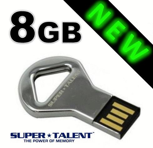 Supertalent CKB KeyDrive 8GB mit Congstar Prepaid Karte +10€ Startguthaben nur 9,99€