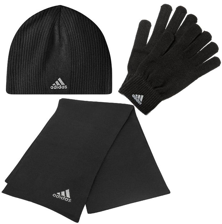 update adidas winter set schal handschuhe m tze f r 25. Black Bedroom Furniture Sets. Home Design Ideas