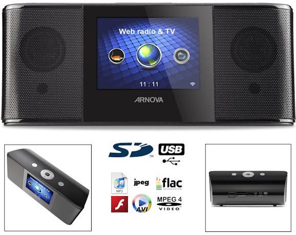 Archos Arnova WLAN Webradio mit TV Funktion für 70€ inkl. Versand. (Preisvergleich 98€)