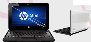 Beeilung! HP Netbook Mini 110 3100sg nur 185€