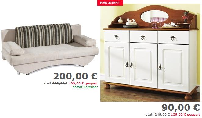 Jubel Wochenende: Neckermann rundet die Preise für Möbel ab! (Rabatte bis zu 599€ ?!)