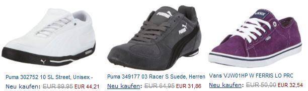 Großer Sneaker Ausverkauf! Edelmarken bis über 70% billiger!