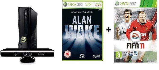 Xbox Bundle! Xbox 4GB + Kinect Sensor (inkl. Kinect Adventures) + Alan Wake + Fifa 11 nur 279€