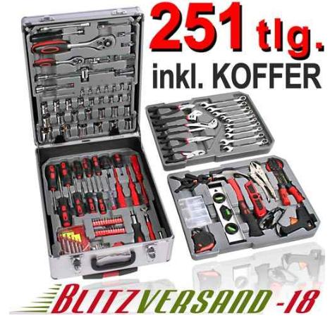 [ebay] Werkzeugkoffer: 251 teilig mit Trolley inkl. Versand 73,95€