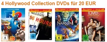 4 Hollywood Collection DVDs nur 20€