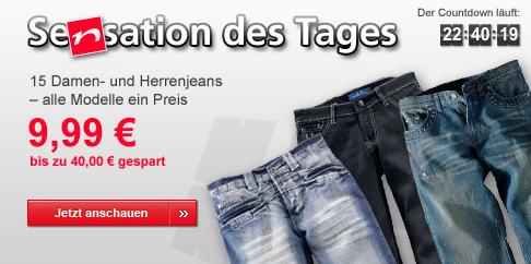 Durch Gutschein 3 Jeanshosen zusammen nur 19,99€ (+ Versand)