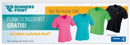 Funktionsshirt geschenkt beim Kauf von Laufschuhen + 20€ Gutscheincode (MBW 95€) + kostenlose Lieferung!