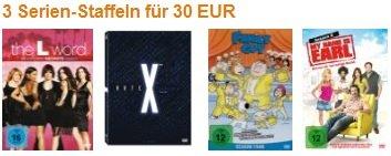 Serienjunkies aufgepasst! 3 Staffeln kaufen und nur 30€ bezahlen!