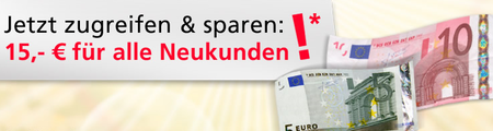 *Wieder da!* Durch neuen 15€ Gutscheincode einige Schnäppchen machen bei Neckermann! (MBW 25€   nur für Neukunden)