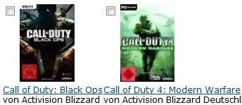 Call of Duty: Black Ops [PC] + Call of Duty 4: Modern Warfare nur 32,97€ zusammen (zzgl. 5€ USK)
