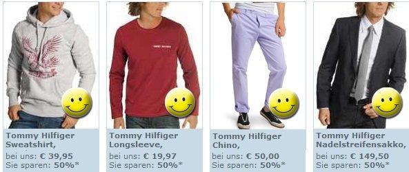 Bis zu 50% Rabatt auf Tommy Hilfiger Artikel bei dress for less + 10€ geschenkt