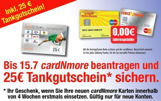 *HOT!* KOSTENLOSE Mastercard + 25€ Tankgutschein Geschenkt!