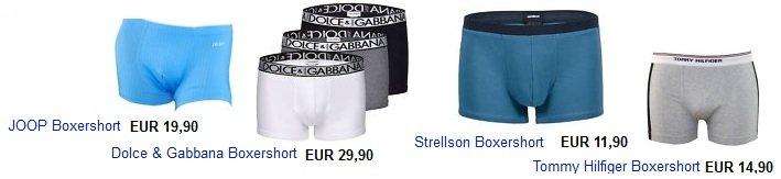 Günstige Marken Boxershorts (Calvin Klein, Hilfiger,D&G, Strellson)