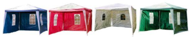 Partyzelt 3×3 Meter in Weiß, Grün, Rot oder Blau nur Heute und Morgen für nur 36,99€  inkl. Versand