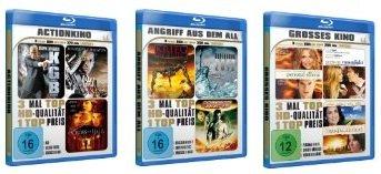 Günstige 3er Blu ray Fim Boxen ab 4,95€ inkl. Versand