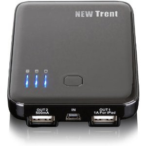 New Trent Externer 5000mAh Akku (z.B. iPhone, iPad…) nur 19,50€ inkl. Versand!