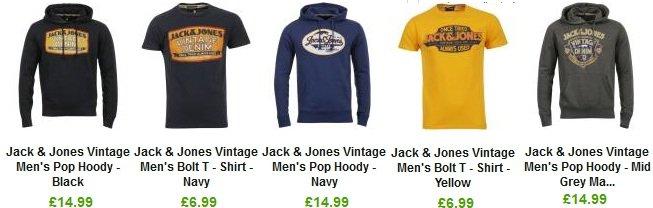 Jack&Jones reduziert! Hoodies ab 17€, T Shirts ab 9€