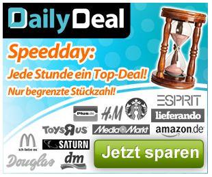 DailyDeal Speedday ab 11 Uhr! Verschiedene Gutscheine zu Hammerpreisen!