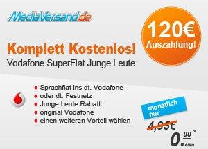 KOSTENLOS! Vodafone SuperFlat für Junge Leute! (dank Auszahlung!)