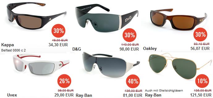 Nur heute! Mister Spex Sonnenbrillen Sale + 10% Gutschein