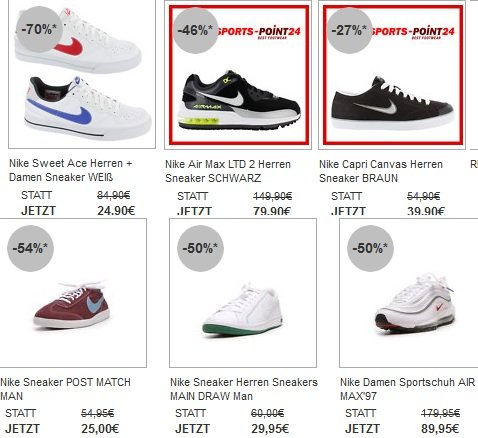 Großer Schuh Sale bei eBay (Bis zu 70% reduziert!)