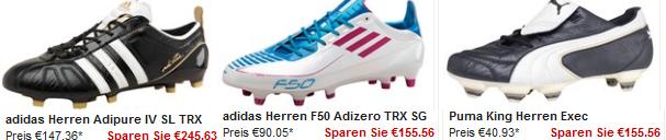 Fußballschuh Sale + 10€ Gutschein + Versandkostenfrei