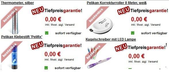 11 (oder mehr) GRATIS Artikel bei Druckerzubehoer (zzgl. 5,97€ versand)