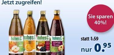 *UPDATE* Durch 8€ Gutschein günstig Hohes C bestellen! (1 Liter nur 0,51€) + GRATIS Artikel