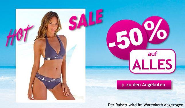 Hot Sale bei Lascana 50% auf alles, auch auf reduzierte Angebote