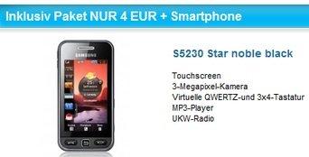 O2 mit 100 Freiminuten in alle Netze + Kostenloses Handy nur 4€/Monat