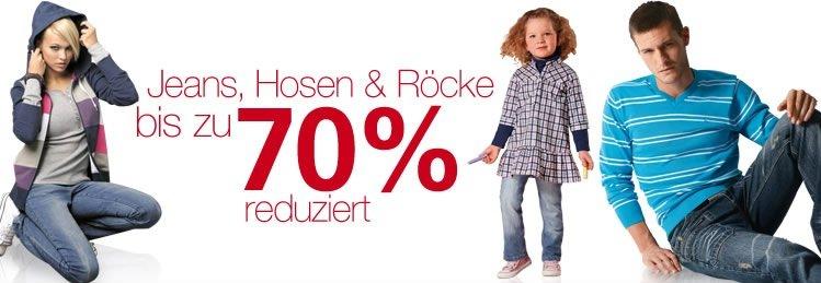 Kleidungs Schnäppchen bei Neckermann! Jeans, Hosen und Röcke bis zu 70% reduziert (+10€ Gutschein)
