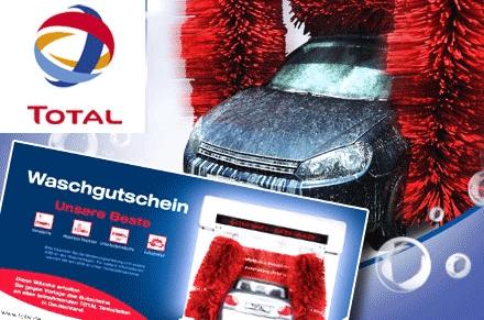 TOTAL Autowäsche Unsere Beste nur 6,30€ (statt 13,49€)