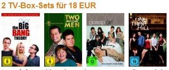 2 TV Serien Boxen nur 18€ (Big Bang Theory, Two and a Half Man…)