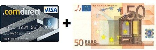 [HOT!!] Kostenlose Kreditkarte (VISA) + 50€ geschenkt!