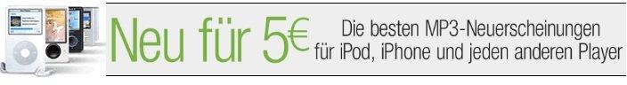 [Amazon] Die besten MP3 Neuerscheinungen für nur 5€