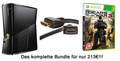 [AMAZON UK] Knaller Bundle: Xbox 360 (250GB) + Gears of War 3 + HDMI Kabel für 213€ inkl. Versand