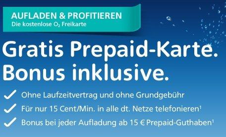 [Kostenlos!] Bis zu 3 O2 Prepaidkarten