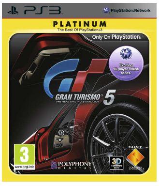 PS3 Game: Gran Turismo 5 Platinum inkl. Versand 12,49€