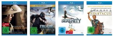 Amazon Update! Blu ray Aktion: 4 Blu rays für 30 EUR inkl. Versand.